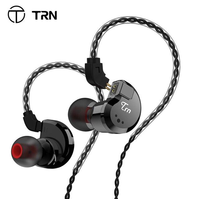 TRN V80 2BA + 2DD الهجين المعادن في الأذن سماعة HIFI DJ Monito تشغيل سماعة أذن تستخدم عند ممارسة الرياضة سدادة الأذن سماعة ل MT1 BA15 TA1 V90 KZ edx