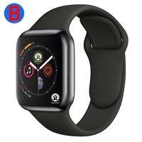 Reloj inteligente B para hombre y mujer, pulsera con Bluetooth, Serie 6, para Apple, iOS, iPhone, Xiaomi, Android, botón rojo