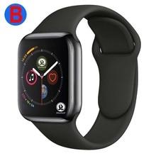 B Phụ Nữ Thông Minh Bluetooth Dòng Đồng Hồ 4 Đồng Hồ Thông Minh SmartWatch Cho Apple IOS iPhone Xiaomi Android (Nút Màu Đỏ)