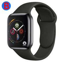 B uomo donna Bluetooth Smart Watch serie 4 SmartWatch per Apple iOS iPhone Xiaomi Android Smart Phone (pulsante rosso)