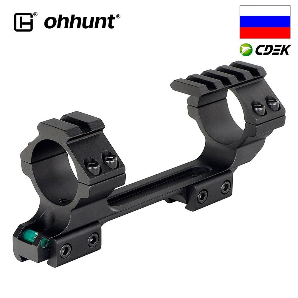 Ohhunt 11mm jaskółczy ogon luneta pierścienie polowanie 25.4mm 30mm przesunięcie zakres góra Picatinny Rail z Stop Pin i poziomica pęcherzykowa
