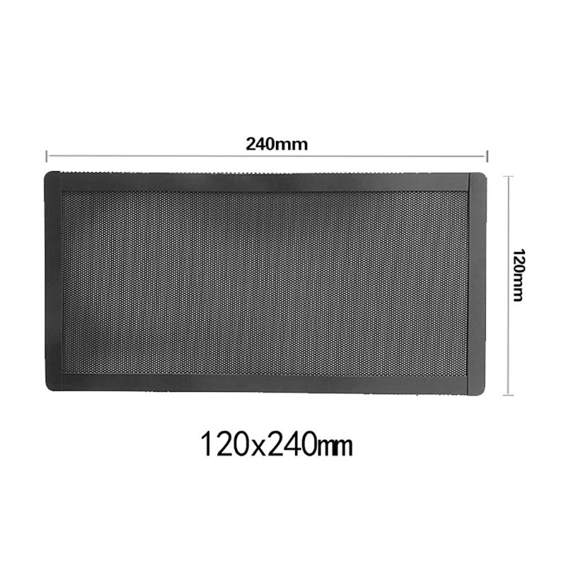 12x24CM Magnetic Dust Filter Dustproof PVC Mesh Net Cover Guard For Home Chassis PC Computer Case Cooling Fan Accessories