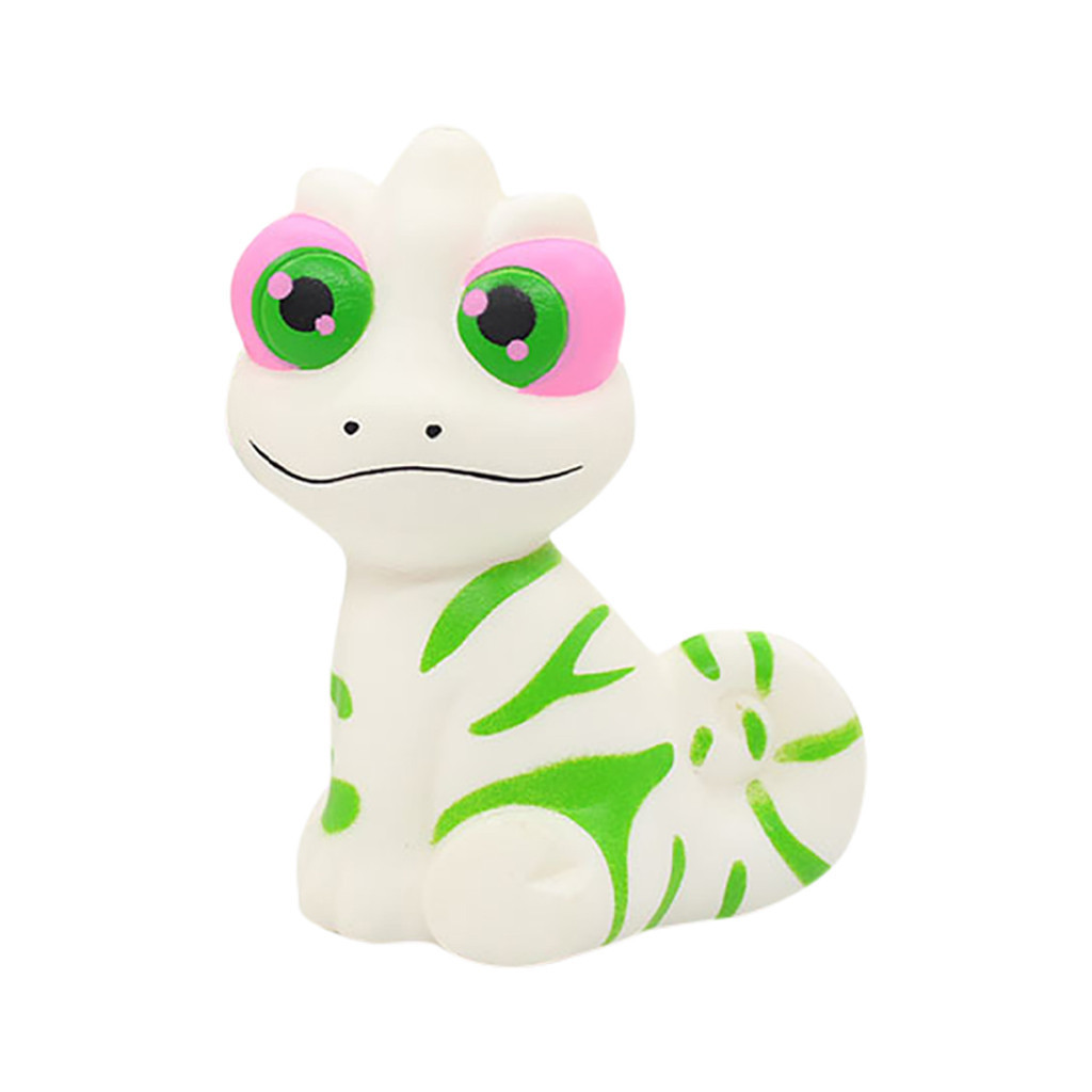 New Simulated Cartoon Chameleon Decompression Animal Toy Cute Anti-stress Toy Children's Home Decoration #A
