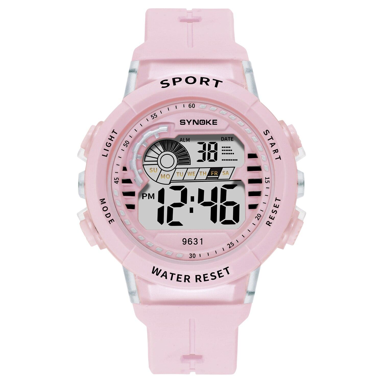 SYNOKE дети часы повседневный 5 бар водонепроницаемый зеленый часы светодиод свет дети мальчики часы девочки наручные часы часы дети часы подарок