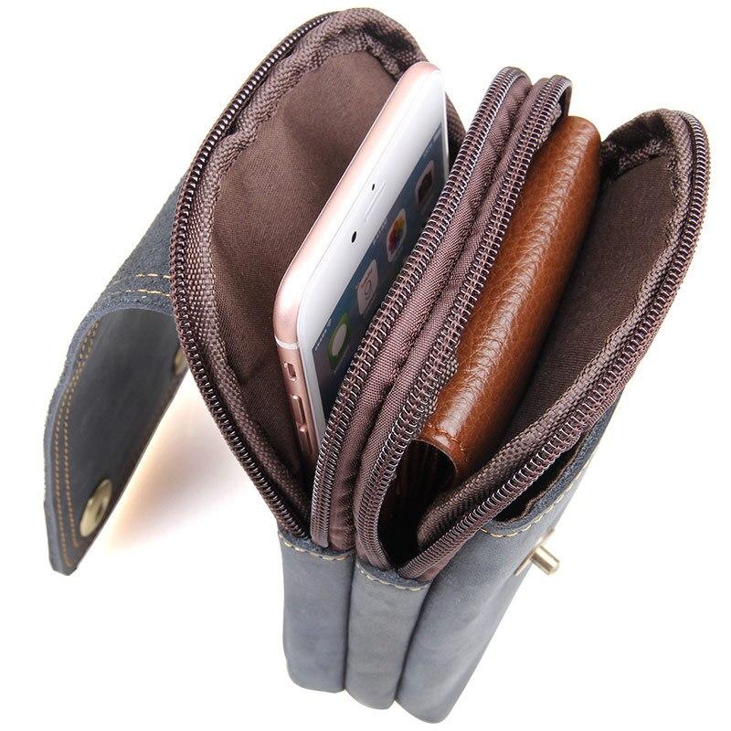 Мужская сумка из натуральной кожи с ремнем для путешествий - 5