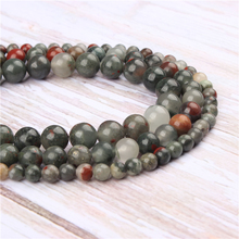Wholesale African Snow Natural Stone Beads Round Beads Loose Beads For Making Diy Bracelet Necklace 4/6/8/10/12MM