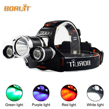 LED Headlamp Red Light Outdoor Headlight 3 LED 3 Modes Waterproof USB Flash Head Lamp Torch Lantern For Camping  RJ 3000