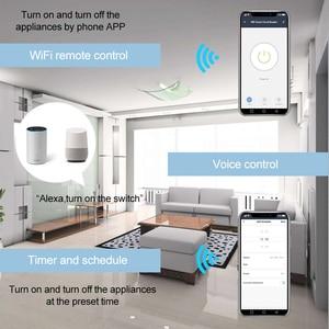 Image 2 - Thuis Slimme 18 Mm 1P Wifi Remote App Controle Stroomonderbreker Timing Schakelaar Trap Timer Din Rail Universele 110V 220V Ac Input