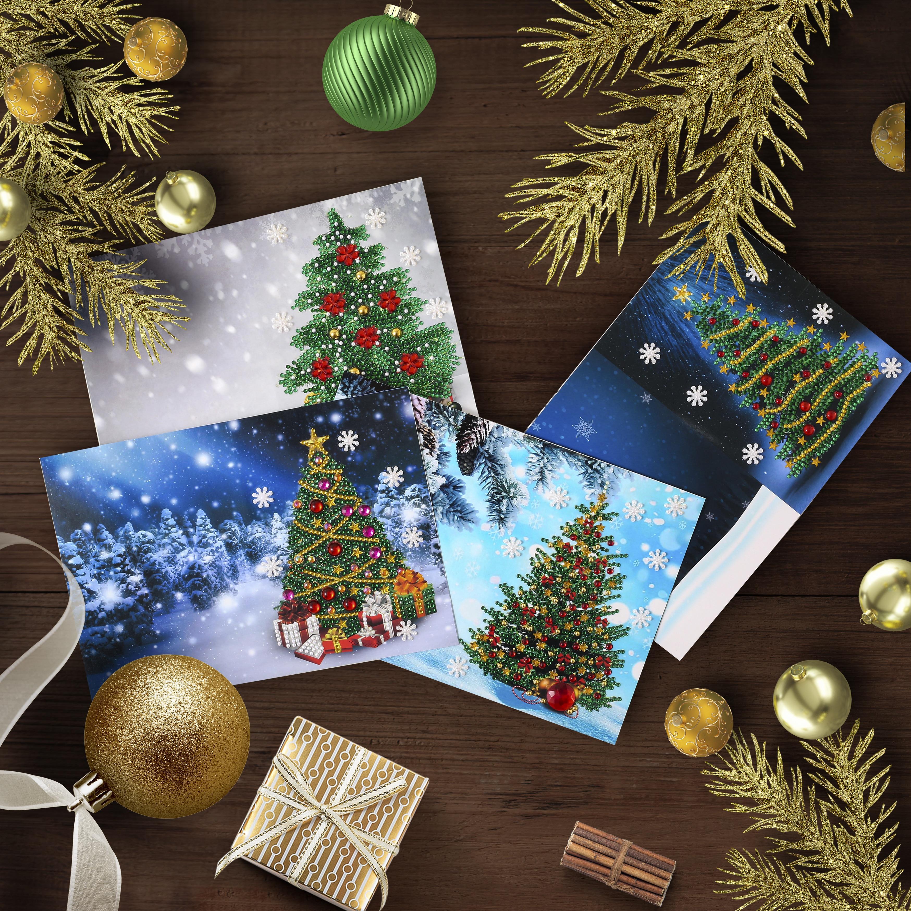 5D DIY алмазная живопись поздравительная открытка особой формы рождественская Алмазная вышивка открытки на день рождения, подарок на Рождест...