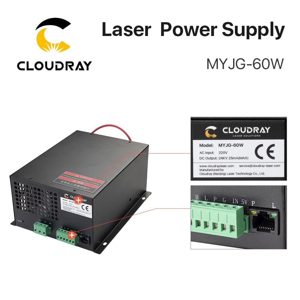 Cloudy 60W CO2 laser-toiteallikas CO2 lasergraveerimisega - Puidutöötlemismasinate varuosad - Foto 6