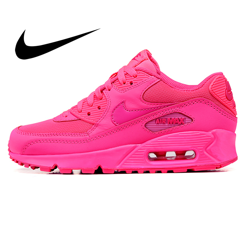Original Authentic NIKE Air Max 90 Women's Running Shoes Outdoor Sneakers Lace-up Durable Athletic Designer Footwear 345017-063
