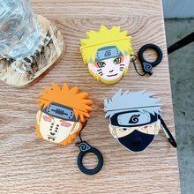 Naruto naruto kakashi bluetooth fone de ouvido casos protetores adequados para airpods 1/2 anti-gota fosco fone de ouvido casos presentes de aniversário
