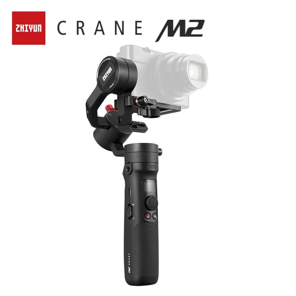 Zhiyun oficial guindaste m2 cardan para smartphones câmeras compactas ação mirrorless nova chegada 500g handheld estabilizador em estoque