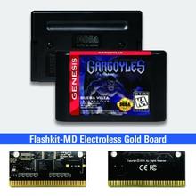 Gargoyles الولايات المتحدة الأمريكية تسمية flash kit MD بطاقة الذهب ثنائي الفينيل متعدد الكلور ل Sega نشأة megadve لعبة فيديو وحدة التحكم