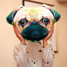 Ins Creative Pillow for Men Children Cartoon Animal Lion Cat Puppy 3D Doll Home Decoration Plush Toy Christma Gift