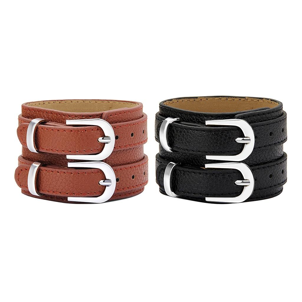 Men 5cm Wide Punk Bracer Arm Armor Rock Cow Leather Wristband Steampunk Arm Warmer Cuff Bracelet Bangle Adjustable Cuff Costumes