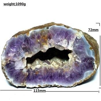 natural Agate geode quartz crystal specimen Home furnishing decoration stone and crystal Reiki healing amethyst