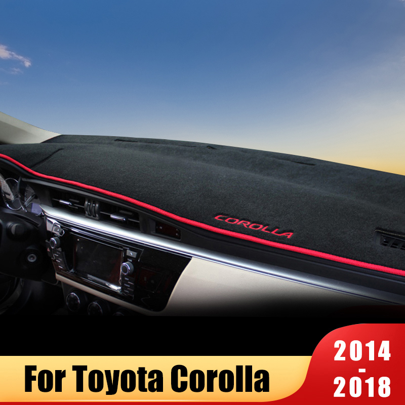 For Toyota Corolla 2014 2015 2016 2017 2018 Car Dashboard Cover Mat Avoid Light Pad Instrument Platform Desk Carpets Accessories title=