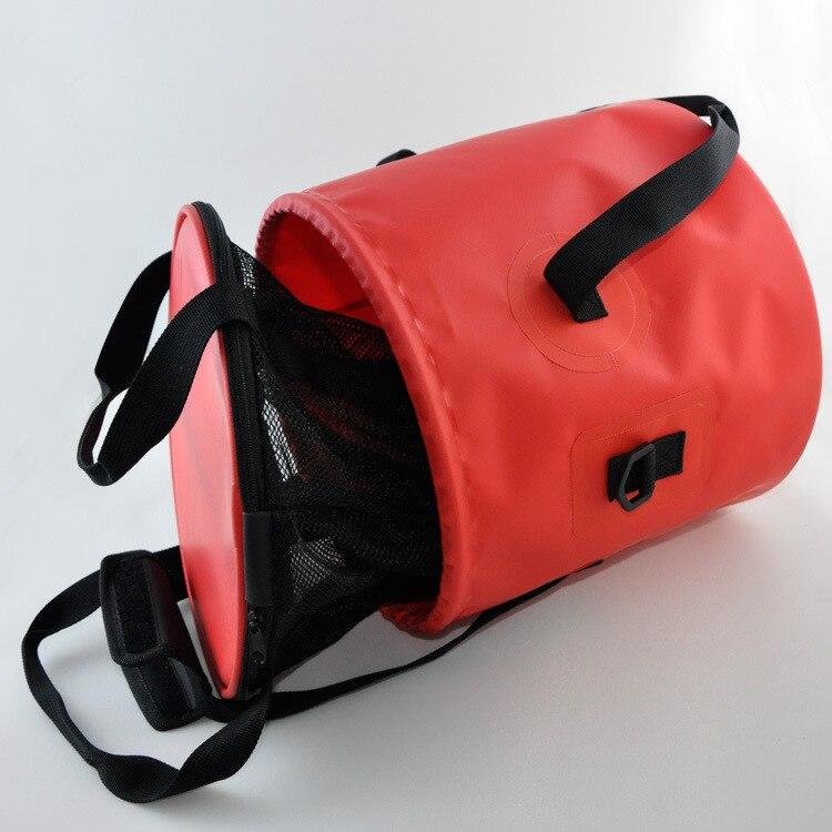 Портативное Сетчатое ведро с ПВХ покрытием, складное ведро, многофункциональное рыболовное ведро для мытья лица/автомобильное ведро