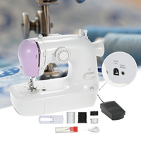 New Electric 12 Stitches Mini Sewing Machine 2 Speed Sewing Machine with LED Light Buttonhole Presser Foot Pedal Sewing Machines