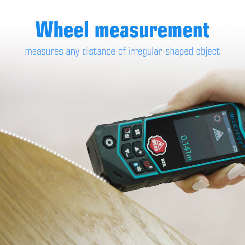 Mileseey Laser Distance Meter R2 Laser Rangefinder Laser Tape Range Finder ruler Diastimeter Curve dimension measurement