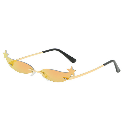 Star Frame Women Sunglasses Oculos Fashion Sexy Small Rimless Mirror Lens Ladies Men Sunglasses Sun Glasses UV400 Shades Eyewear Islamabad