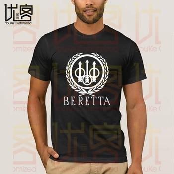 BERETTA T-Shirt Weapon T-Shirt Summer Print Black T Shirt Clothes Popular Shirt Cotton Tees Amazing Short Sleeve Unique Men Tops