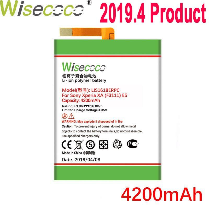 LIS1618ERPC Wisecoco 4200mAh Bateria Para SONY Xperia XA (F3111) e5 F3313 F3112 F3116 F3115 F3311 G3121 G3123 G3125 G112 G3116