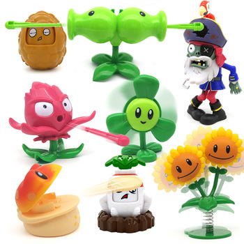 New Plants vs Zombie Toys Double Headed Pea Shooter Clover Set Boy Without Box