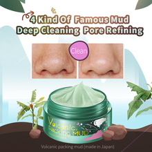HANAJIRUSHI Clay Mask Volcanic Mud Face Clear Pores Remove Blackhead Strawberry Nose Smoothing Hydrating Facial 80g