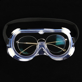 Protective Goggles Transparent Safety Glasses Wind Sand Fog Dust Proof Goggle Four Beads Comfortable Eyes Wear With Elastic Band new safety glasses protective motorcycle goggles dust wind s