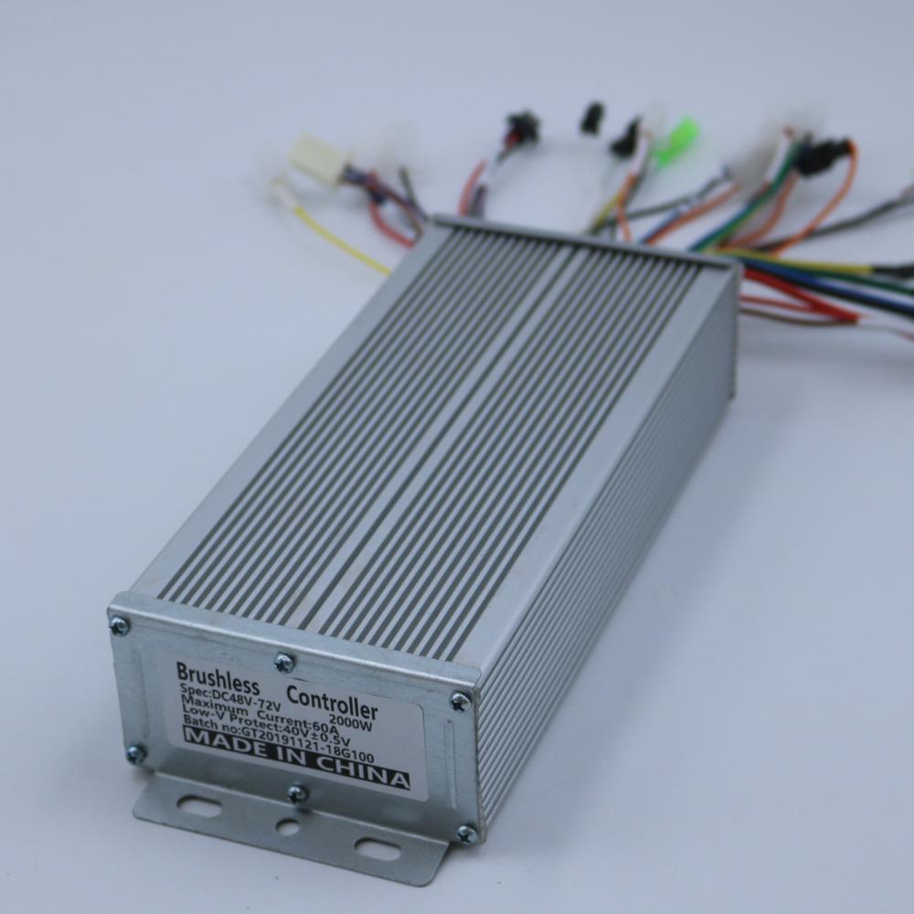 GREENTIME Sensor/Sensorless 48V-72V 1500W-2000W 18 Mosfet BLDC Motor Controller E-bike Brushless Controller