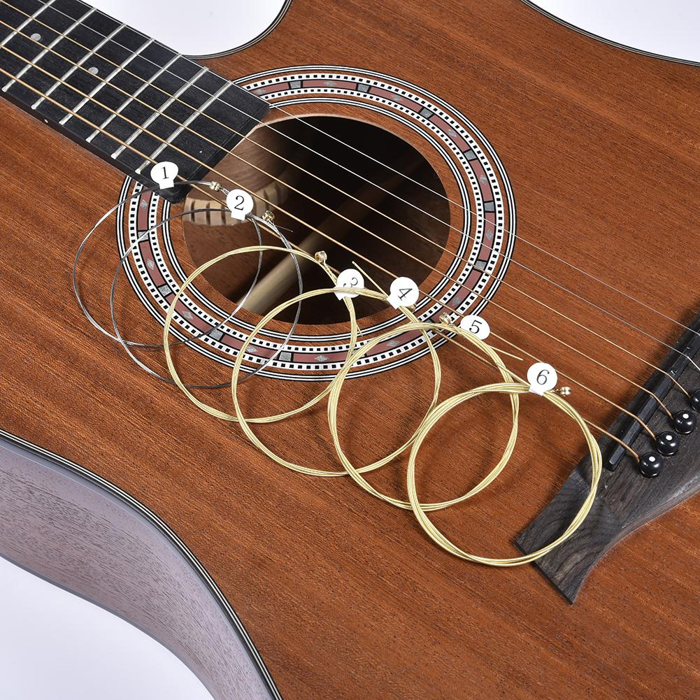 Universal Acoustic Guitar String 6Pcs/Set Acoustic Guitar Strings Strings E-A For Acoustic Folk Classic Guitar Parts Accessories