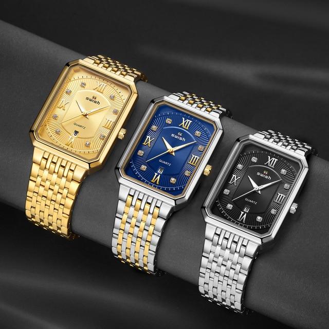 Купить часы наручные swish мужские кварцевые роскошные повседневные картинки