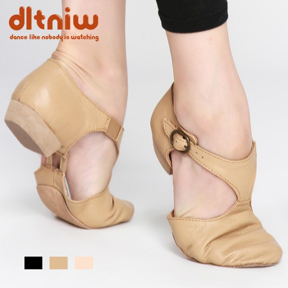Black Tan Pink Leather Teacher Jazz Dance Sandal Shoes For Teachers Professional Sapato Dancing Sandals Shoes Jazz Dance Shoes