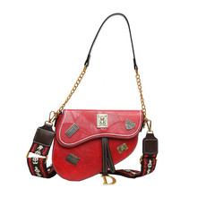 Одноцветные седельные сумки из искусственной кожи, сумки через плечо для женщин, женская сумка через плечо, женские дорожные сумки