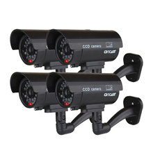 4PCS Fake Dummy Camera Bullet Waterproof Outdoor Indoor Security CCTV Surveillance Cameras With Flashing Red LED Home Guard цены онлайн