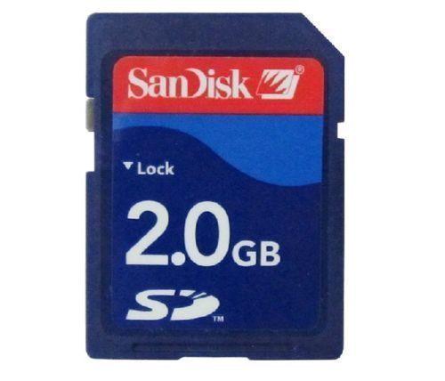 SanDisk 2 Гб SD карта памяти безопасный цифровой SDSDB-2048 синий стандарт 100% подлинный используется