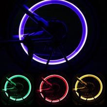Bicycle Lights with Batteries Wheel Spoke Lamp LED Bike Valve Lights Tyre Tire Valve Cap MTB Bike Light Bicycle Bike Accessories cheap LJHR002 Tyre Valve Caps Battery 3 x AG10 button batteries (Included) Red Blue Yellow Green Colorful Fit for Woods Valve and Schrader Valves
