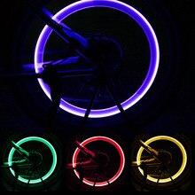 Luces de bicicleta con baterías, lámpara con rayos LED, luces de válvula de bicicleta, tapa de válvula de neumático, luz de bicicleta MTB, accesorios de bicicleta