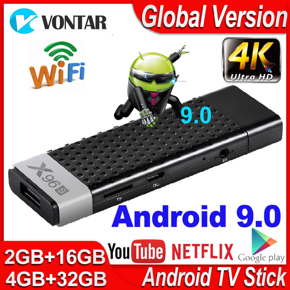 Mini Smart TV Box Android 9.0X96 S TV Stick 4GB RAM DDR3 TV Dongle Amlogic S905Y2 2.4G & 5G Wifi BT4.2 60fps 4K TVBOX lecteur multimédia