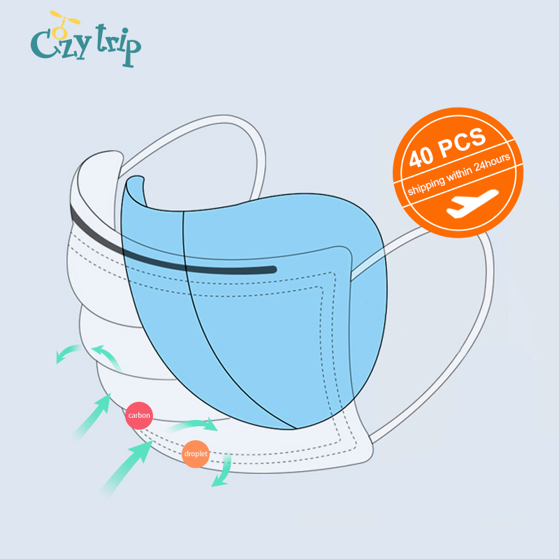 40 PCS Droplet Bacteria Mouth Mask Filter Anti-Dust Protective Mask Filter Pad Unisex Insert Face Mask Replacement Filter