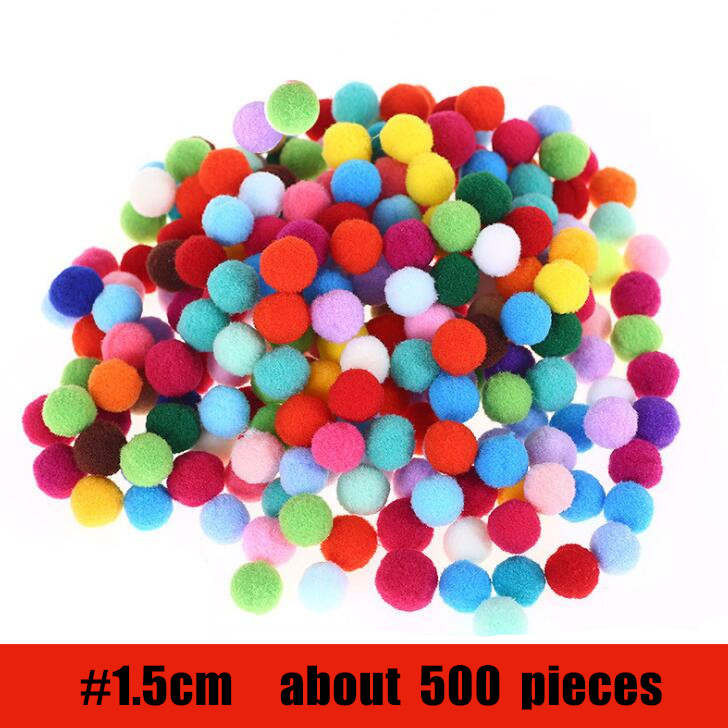 1.5cm 500pcs Pack Small Colorfully Ball Girls Toys Creative Material Children Kindergarten DIY Handmade Materials BS94