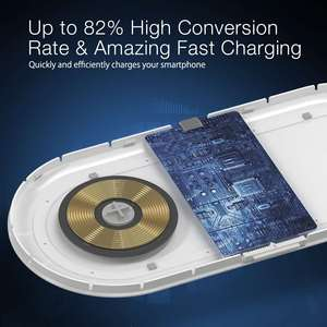 Image 4 - [QI Charge] BlitzWolf BW LT26 10W Qi Wireless Charger with 2700k 5000k LED Night Light Type C Charging Magnetic Detachable Lamp