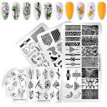 Nicole diary placas de estampagem retangular, estêncil de impressão de imagem em animais de mármore