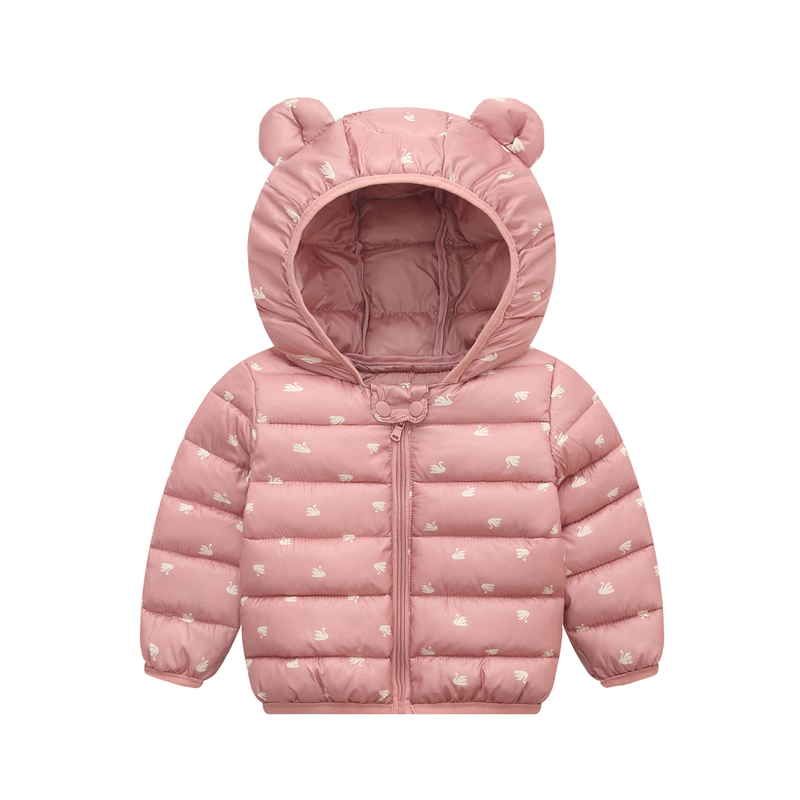 Kid Down Coats Infant Snow Wear Hooded Coats Baby Girls Boys Cartoon Print Jackets Autumn Winter Warm Outerwear Children Clothes
