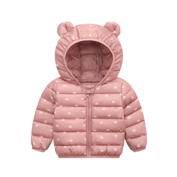 Kid Down Coats Infant Snow Wear Hooded Coats Baby Girls Boys Cartoon Print Jackets Autumn Winter Warm Outerwear Children Clothes цена 2017