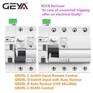 Image 5 - GEYA 6KA ELCB RCCB 2PอัตโนมัติReclosingอุปกรณ์รีโมทคอนโทรลCircuit Breaker Recloser RCD 40A 63A 30mA