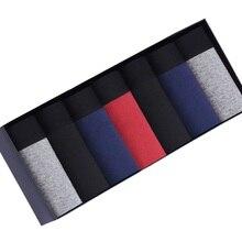 Bokserki bielizna męska spodenki Homens Pugilista Cueca Solid Boxershort miękkie wygodne bokserki w nowym stylu moda 7M09