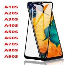 كامل الغراء الزجاج المقسى لسامسونج غالاكسي A10S A20S A30S A40S A50S 9H طبقة رقيقة واقية واقي للشاشة ل A60S A70S A80S a90S